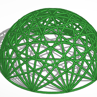 Small geodesic dome 3D Printing 203426