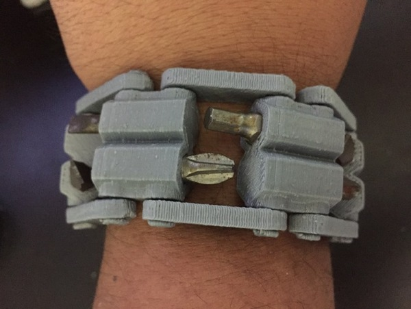 Medium 3D Printed Tool WristBand 3D Printing 20350