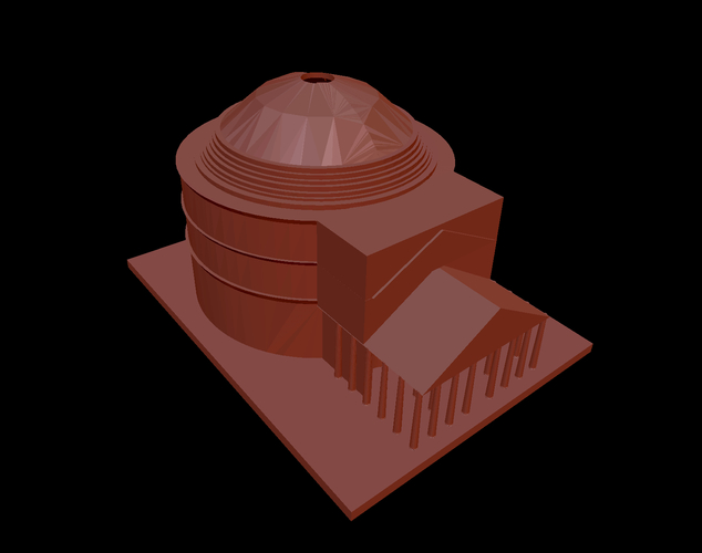 Pantheon or Rome 3D Print 203520