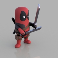 Small Mini Deadpool 3D Printing 203538