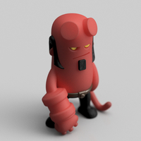 Small Mini Hellboy 3D Printing 203557