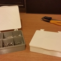 Small Multi-compartment storage box with hinged lid. 3D Printing 20358