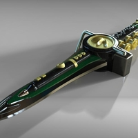 Small Green Ranger dragon dagger from Mighty Morphin Power Rangers 3D Printing 203662