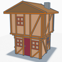Small medieval house 3D Printing 203693