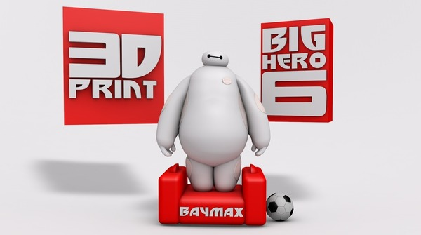 Medium BIG HERO 6 - BAYMAX 3D Printing 20373