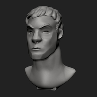 Small Fortnite Character Bust 3D Printing 203775