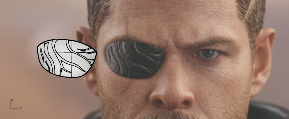 Thor eyepatch from Ragnarok and Infinity War 3D Print 203821