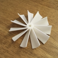 Small Fan Blade 60x10mm 3D Printing 203984