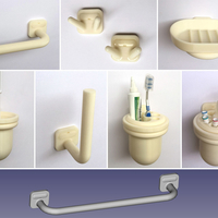 Small Bathroom accessories complete professional set 3D Printing 203991