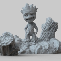 Small Baby Groot 3D Print Model - STL Files for 3D Printing  3D Printing 204007