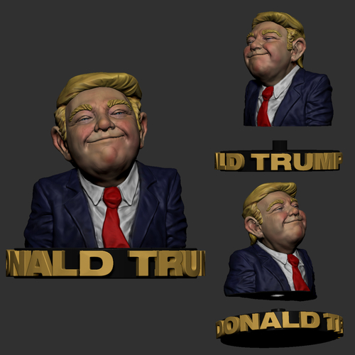 Donald Trump 3D Print Model - STL Files for 3D Printing  3D Print 204016