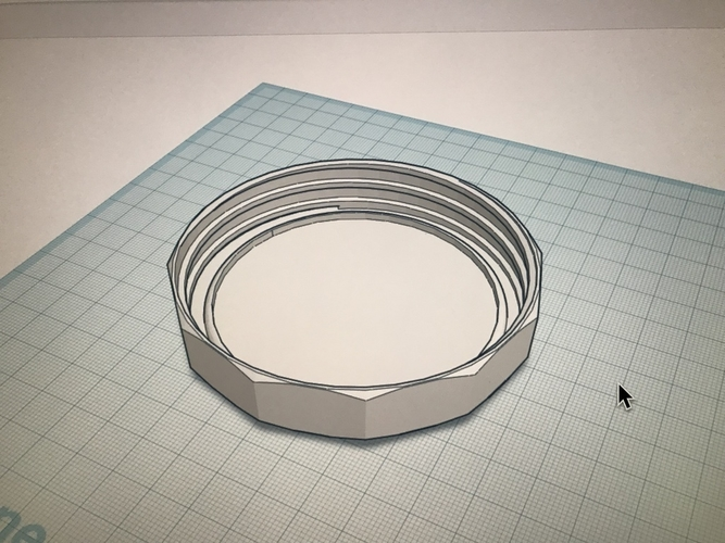 Wide Mouth Mason Jar Lid Chamfered Edges  3D Print 204079