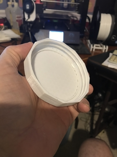 Wide Mouth Mason Jar Lid Chamfered Edges  3D Print 204081