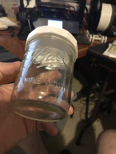 Wide Mouth Mason Jar Lid Chamfered Edges  3D Print 204082
