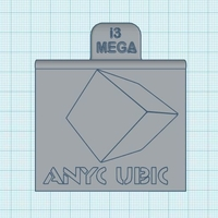 Small Anycubic i3 Mega Plug Cover with front customizable panel 3D Printing 204083