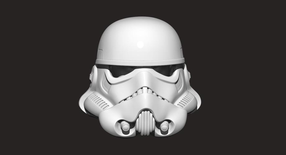3d printed stormtrooper helmet star war by blackstar dvh pinshape