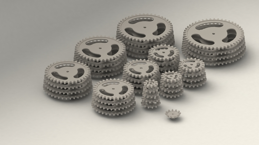 Gear Collection 1 3D Print 204419