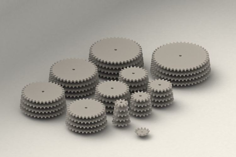 Gear Collection  3D Print 204421