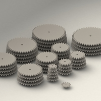 Small Gear Collection  3D Printing 204421