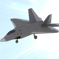 Small F22 Raptor scale model 3D Printing 204426