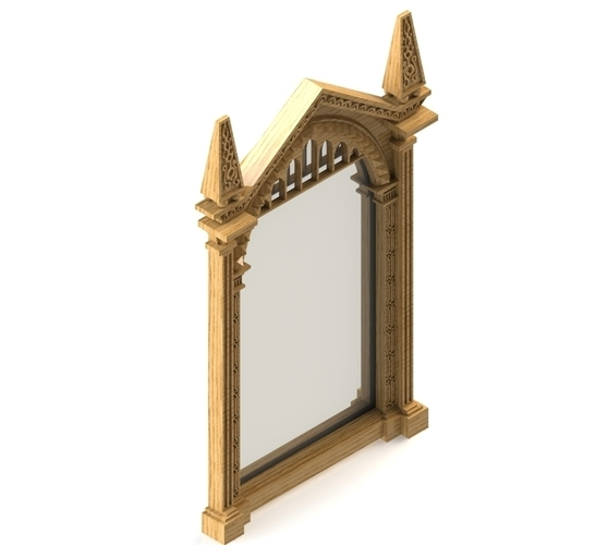 3d Printed Mirror Of Erised Frame Harry Potter By Bramesh501