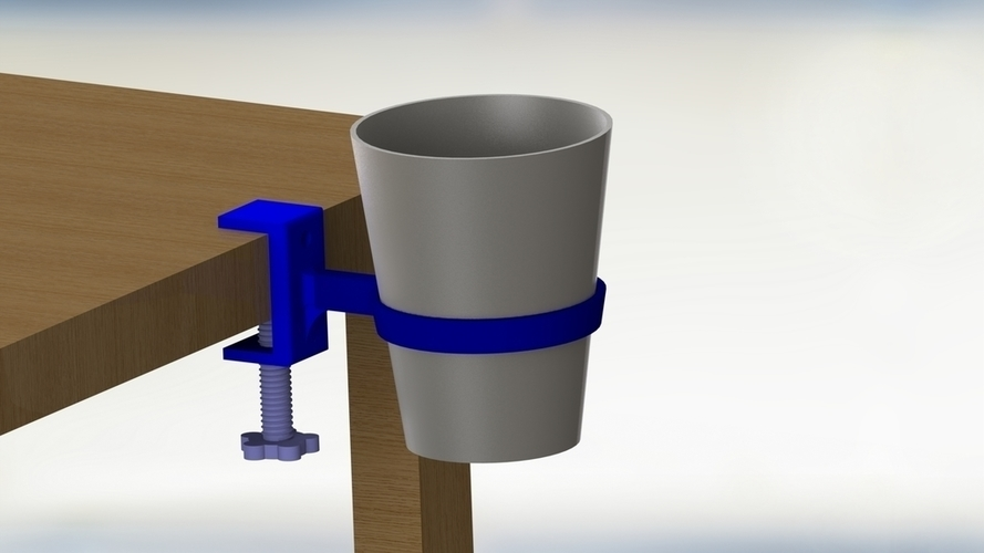 Cup Holder with vise setup 3D Print 204443