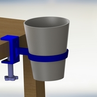 Small Cup Holder with vise setup 3D Printing 204443