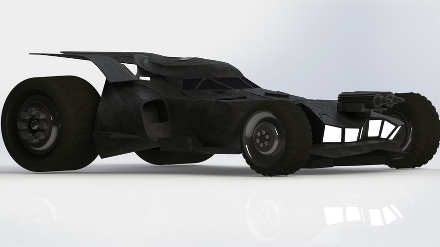 BatMobile  - Batman V Superman Dawn of Justice Model 3D Print 204449