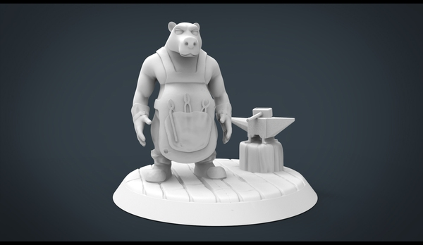 Medium Forgemaster Bear 3D Printing 20445