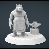 Small Forgemaster Bear 3D Printing 20445