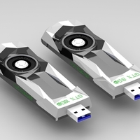 Small Pendrive Case - NVIDIA Geforce Founder Edition 3D Printing 204450