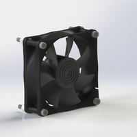 Small 80mm computer Fan 3D Printing 204458