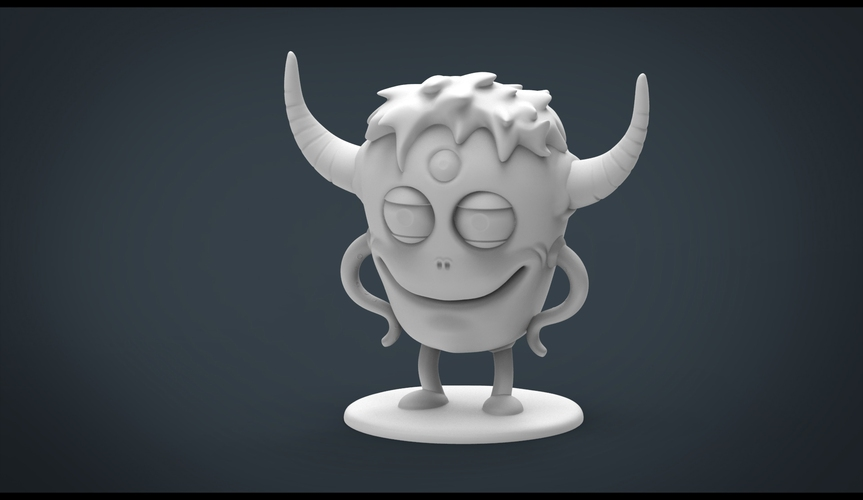 Funny Monster 3D Print 20447