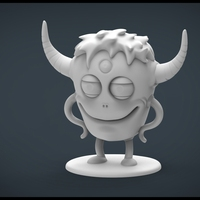 Small Funny Monster 3D Printing 20447