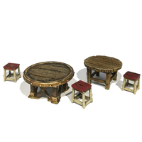 Small  HG3D - Tavern Tables - Raghaven Collection - 28mm 3D Printing 204514