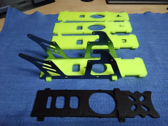 450 Helicopter V2 bottom plate 3D Print 204565