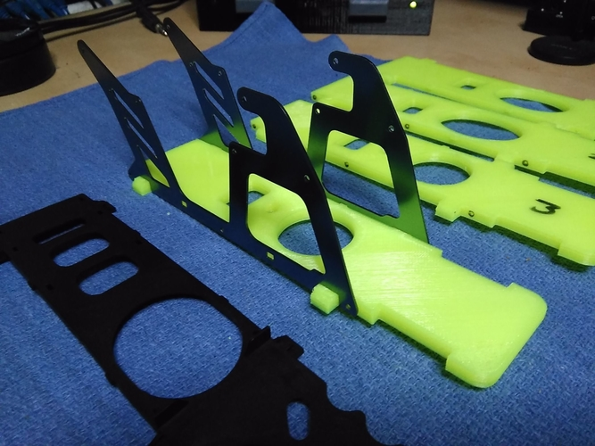 450 Helicopter V2 bottom plate 3D Print 204566