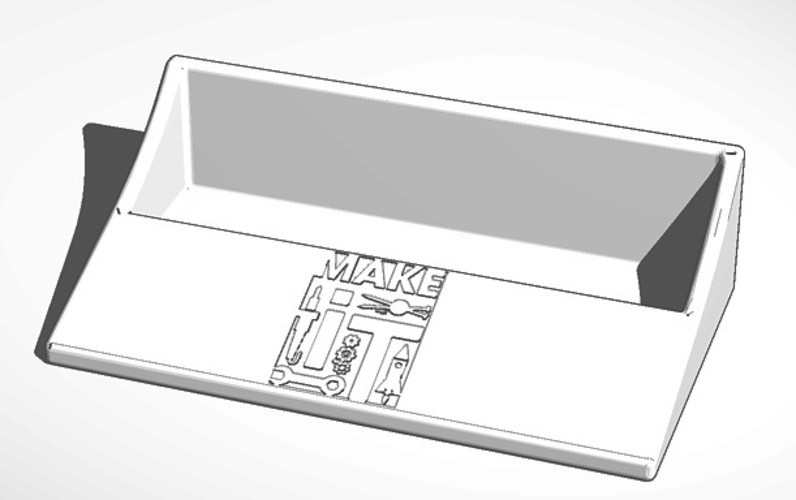 Make It Biz Card Holder 3D Print 20457