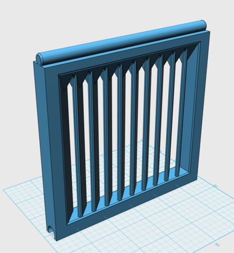 Modular mini-window holder w/ blinds 3D Print 204570