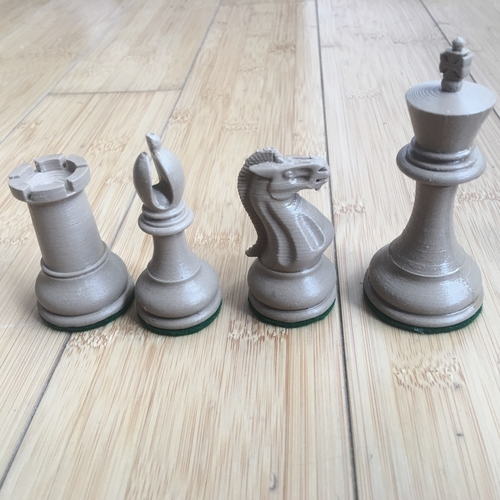 Weighted Tournament Chess Game Set 3D Print 204601
