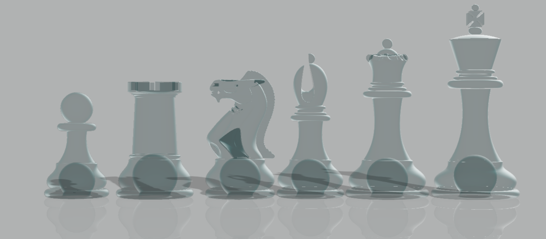 Weighted Tournament Chess Game Set 3D Print 204602