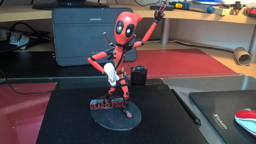 Deadpool Figure 3D Print 204656