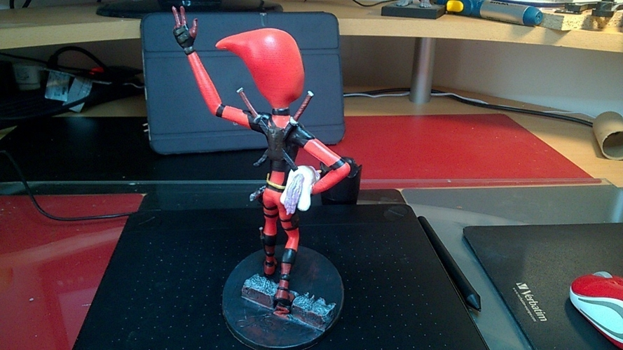 Deadpool Figure 3D Print 204657