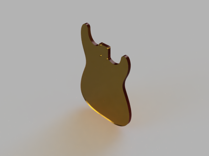 Stratocaster Body Template 3D Print 204697