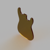 Small Stratocaster Body Template 3D Printing 204697