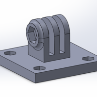 Small 40mm camera rig plate 3D Printing 204722