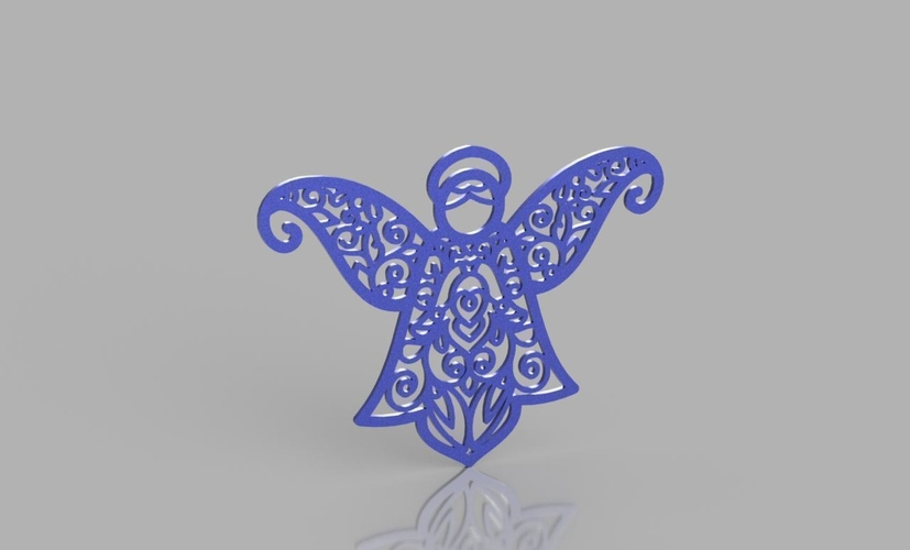 Angel Pattern 3D Print 204762