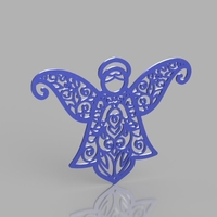 Small Angel Pattern 3D Printing 204762