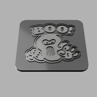 Small Boo Cup Coaster 3D Printing 204840