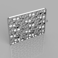 Small Voronoi Earrings_v2 3D Printing 204993